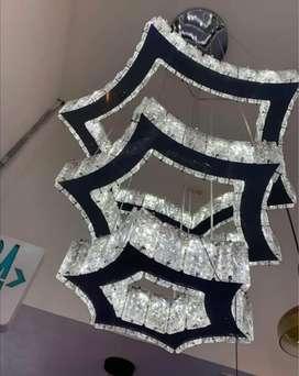 Lámpara de cristal tricolor