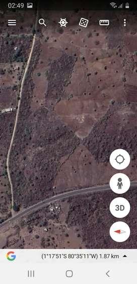 10 hectáreas al pie de carretero Manta -- Jipijapa