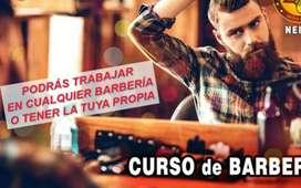 Curso de barbería intensivo , aprende  de una manera práctica,  trabaja en cualquier barbería .   3 clases ala semana