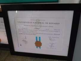 Marcos cuadros para titulos unuversitario UNR