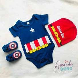 Disfraz Capitan América Bebe
