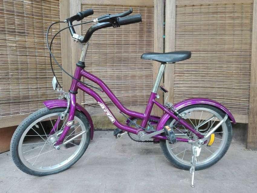 Bicicleta niña/niño, rodado 16, violeta 0