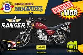 MOTOS SANTO DOMINGO//RANGER AT 150-2019, GRATIS CASCO,MATRICULA, E IMPERMEABLE//IMPORTADORA BENAVIDES SANTO DOMINGO