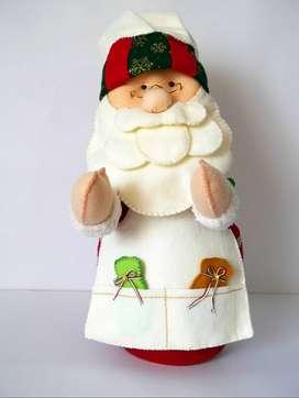 Muñeco navidad -Papá Noel Panadero 50 cms