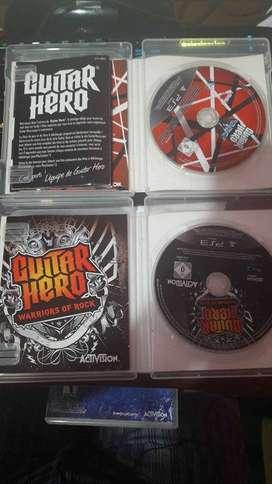 DISCOS GUITAR HERO PS3
