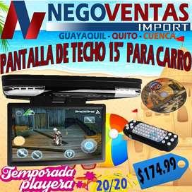 PANTALLA DE TECHO DE 15 PULGADAS CON LECTOR DE CD DVD PARA BUSES $174,99