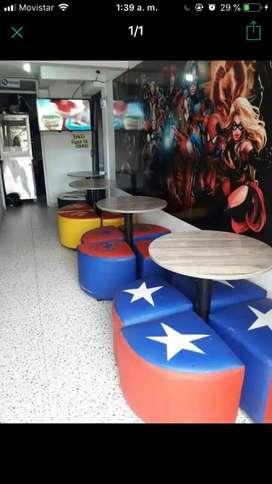 Vendo sillas y mesas para negocio restaurante nuevas