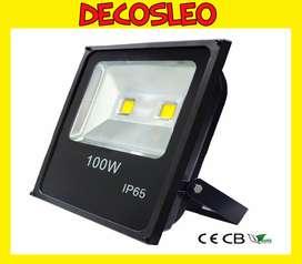 Reflector Led 100w Bajo Consumo Alta Potencia Exterior Frio