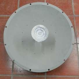 Antena parabólica de doble polarización de 4,9-5,8GHz con montura, 2 pies, 29 dBi, 6 grados