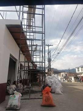 Alquiler de andamios y equipos para la construcción