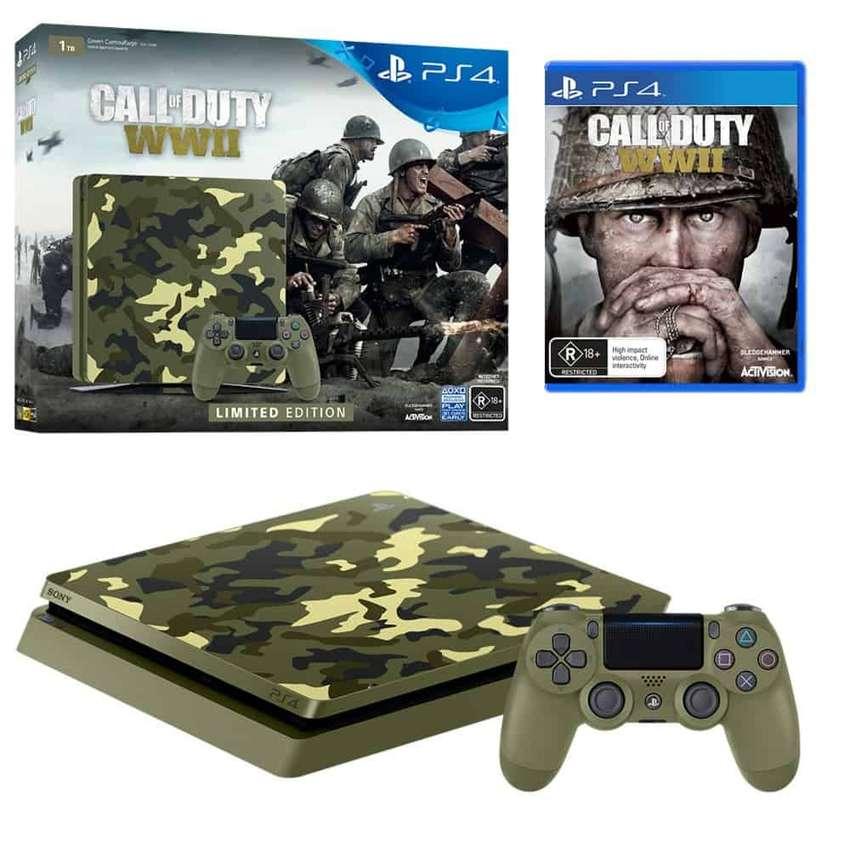 PlayStation 4 Call of Duty WWII - Slim 1TB consola edición limitada 0