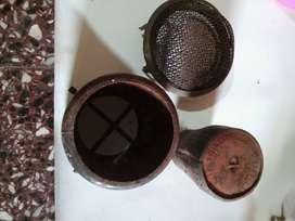 Partes de calentadores antiguos usadas.