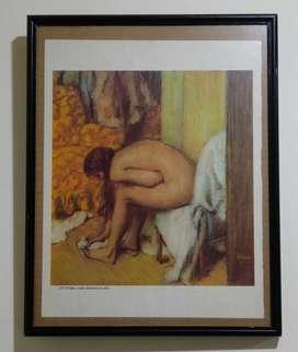 Laminas originales enmarcadas 37 X 29 cm c/u : Renoir, Degas, etc