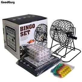 Bingo Juego Set Kit Juguete Mesa Metalico Envio Inmediato