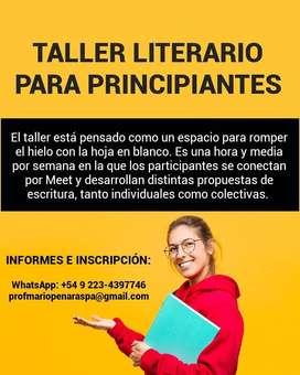 TALLER LITERARIO PARA PRINCIPIANTES