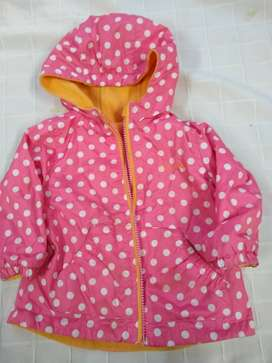 Campera Oshkosh Capucha reversible Impermeable-abrigo perfecta