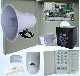 Alarma contra robo atraco incendio con discador telefónico gsm de claro teclado digital control remoto