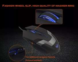 Mouse Meetion Gamer Intermedio 6 botones 2400 dpi