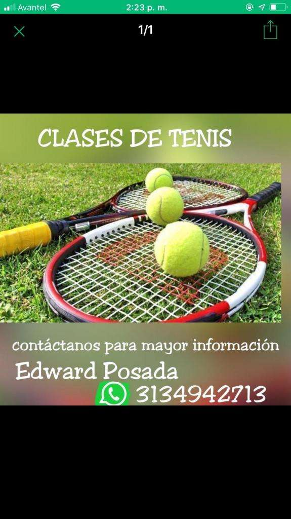 Clases  cursos de Tenis 0