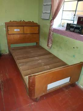 Cama madera 1.5 plaza