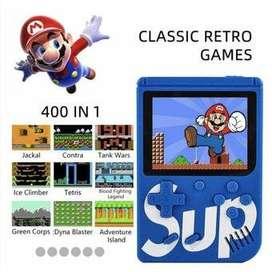 Consola retro con 400 juegos y un control para jugar con amig@s más cables para tv
