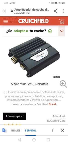 Remato amplificador modelo alpine de 4 canales americano más pantalla de 7 pulgadas marca  kenwor americana