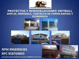 PROYECTOS DRYWALL Y ACABADOS