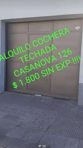 ALQUILO COCHERA CASANOVA 126 . MANDAR WHATSAPP