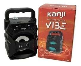 Parlante Portatil Rgb Bluetooth Radio Con Luz Led Kanji Vibe