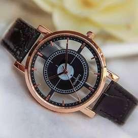 reloj kaji ilusion of time mujer dama cuero analogo relojes elegante
