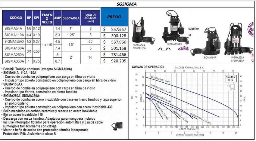 Motobomba Sumergibles, Achiques, Aguas Fluviales, Residuales 0
