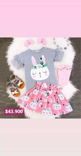 Conjunto para niñas conejo