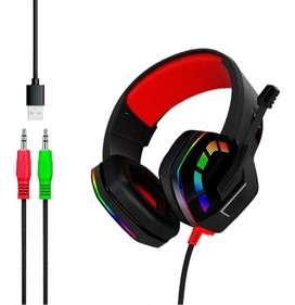 Auricular Luces Vincha Gamer Microfono Sonido Hd Rgb Usb Cable 3.5