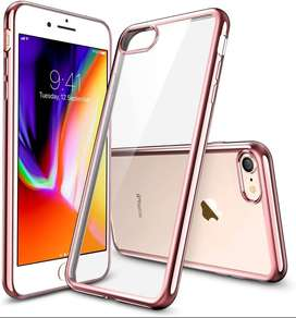 funda TPU transparente borde metalizado  Iphone 7 / 8