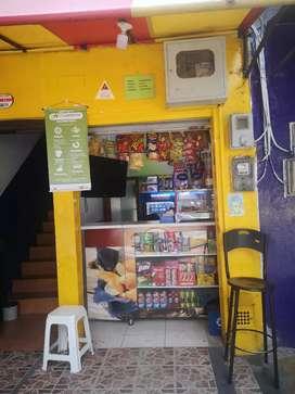 Vendo Negocio de comidas, ubicado en Santa Lucia a una cuadra de la estación del metro