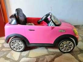 Carro mini cooper rosa