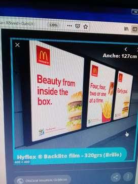 Venta de Backlite Film Solvente sin adhesivo