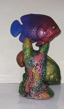 Cerámica de Peces multicolor-
