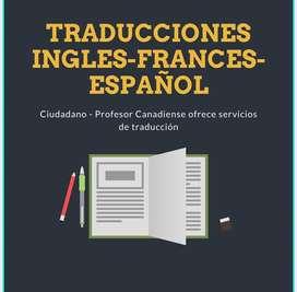 Servicio de traduccion de la mas alta calidad Ingles - Frances - Español