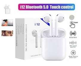 Audifonos Inalambricos i12 tws tactil touch Bluetooth nuevos y sellados, delivery gratuito
