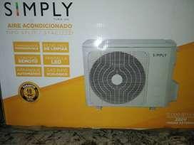 Aire acondicionado simply 1200 ptu 220v. nuevo