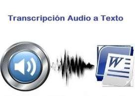 TRANSCRIPCIÓN DE AUDIO Y VÍDEO A TEXTO
