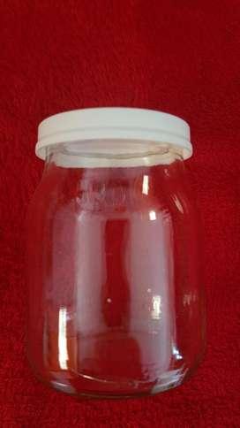 Frascos de vidrio con tapa hermética de plástico x 10 unid.