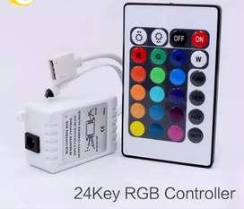 Controlador rgb 12v cinta led secuencial control remoto 4 pines supli