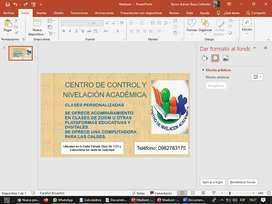 Centro de control y nivelación académica