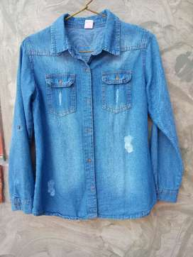 Camisa jeans talle 16