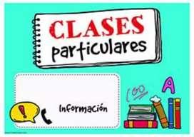 Clases, tutoras, apoyo en tareas y trabajos, tesis,