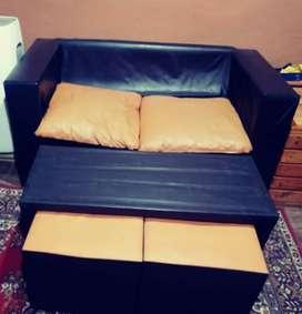 Vendo sillon más puf usado