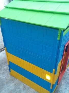 Tobogan vegi y casa desarmable