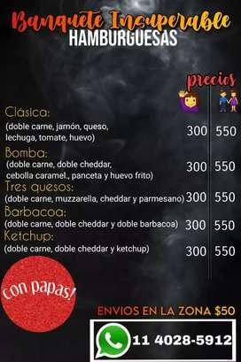 Milanesa con CHEDAR y panceta más papas FRITAS  y mucho más !!